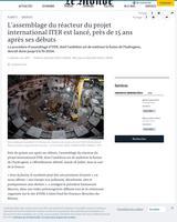 Le chantier d'ITER a débuté