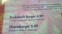 Brokeback* burger