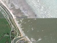 Côte normande: en haut à marée basse; en bas à marée haute