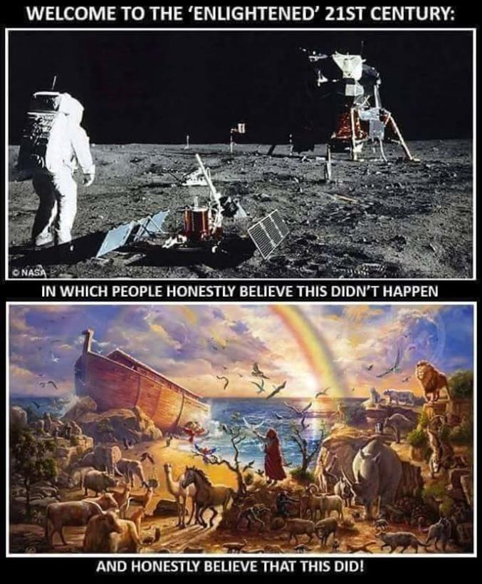 ... Où certaines personnes ne croient sincèrement pas à ça... ... Mais croient sincèrement à ça...