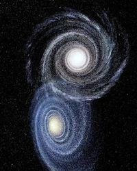 Simulation de rencontre de galaxies