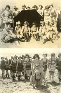 Starlettes sur la plage de Santa Monica (Californie) en 1921