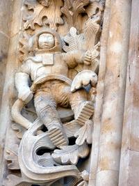Statue de la cathédrale de Salamanque, construite entre le XVIe et le XVIIIe siècle
