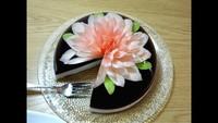 Gâteau artistique en gélatine