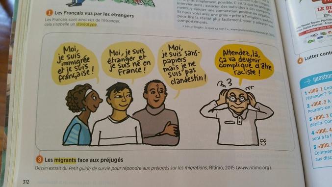 Quelle est la couleur des Français ? Quelle est la couleur du raciste ? Vous avez 5 minutes, surlignez la consigne.