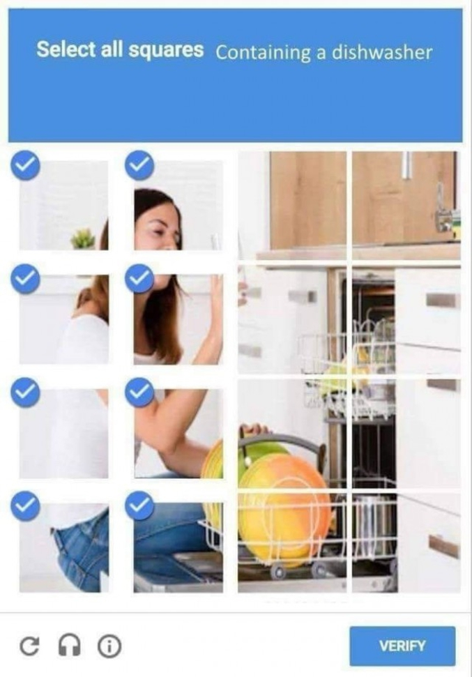 Sélectionnez tous les carrés contenant un lave-vaisselle.