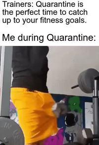 S'entraîner sévère pendant la quarantaine