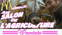 Mac Donald au salon de l'agriculture.