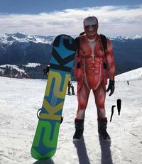l'abdominal homme des neiges