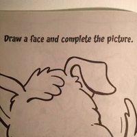 """Instruction : """"Dessine au chien un visage et complète le dessin."""""""