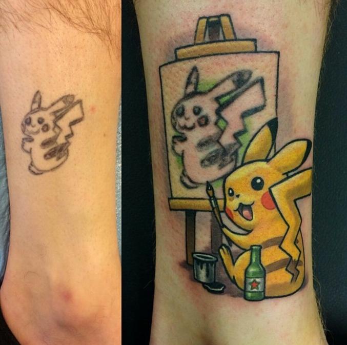 Quand on vous dit qu'un beau tatouage ça prend du temps et donc ça coute cher. C'est à vie les gars. Mettez y les moyens dés le départ.