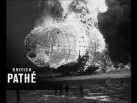 Images de la catastrophe du dirigeable Hindenburg (1937)