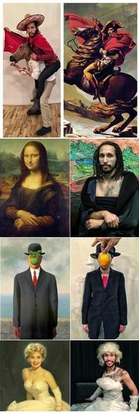 Il reproduit des tableaux