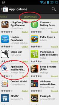 Top des applications téléchargées