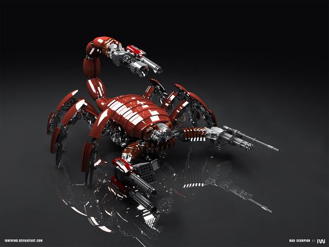 Un robot scorpion