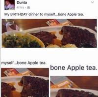 Os pomme thé