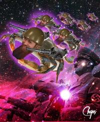 Ode cosmique à la guerre millénaire des hommes-crabes