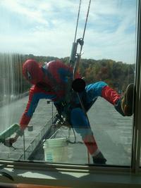 Spiderman au travail