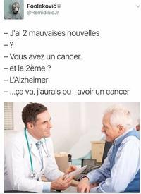 L'Alzheimer annule toutes les autres maladies