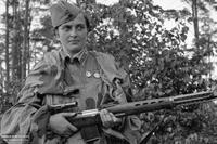 Une tireuse d'élite soviétique pendant la Seconde Guerre Mondiale