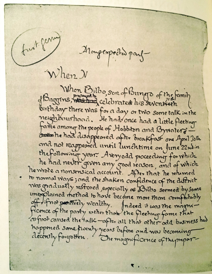 Par Tolkien, en 1937. Rien que la calligraphie claque...
