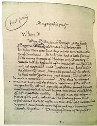 Première page du manuscrit du Seigneur des Anneaux