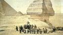 Des samouraïs devant le Sphinx