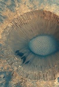 Cratère de la plaine du Méridien, sur Mars