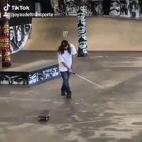 Un skateur
