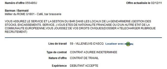 A la gendarmerie.