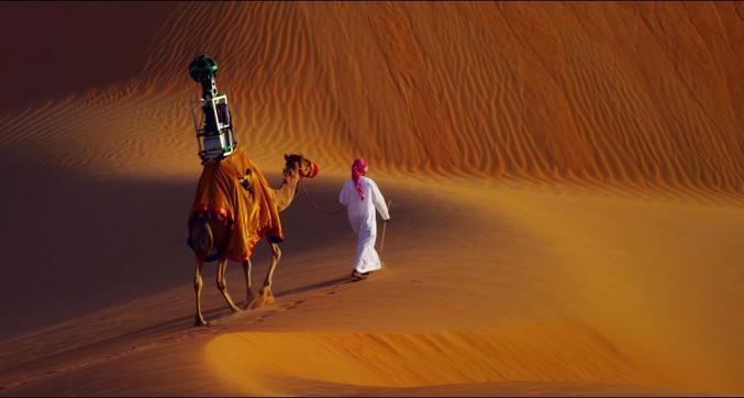 Après les google cars, la version grande étendue de sable