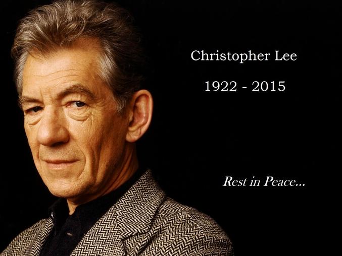 L'acteur Christopher Lee est décédé aujourd'hui à l'âge de 93 ans...