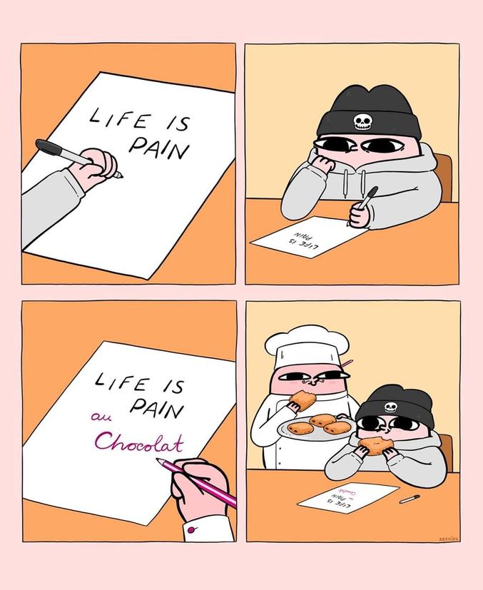 Essayez de faire pareil avec vot' chocolatine, infidèles ! Seul un VRAI pain au chocolat peut sauver un dépressif !