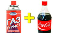Coca cola + divers gaz .... mais ... version russe