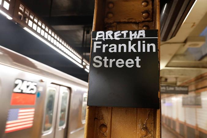 New York City, Franklin Street station, lignes 1 et 2.