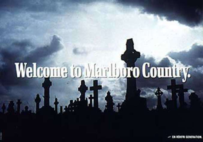 Le tabac tue : Welcome to Marlboro country