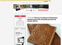 Plus de 16 millions d'Américains pensent que le lait chocolaté provient de vaches marron