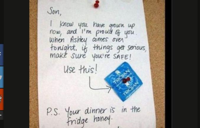 Une mère laisse un mot et un préservatif à son fils mais fait une grosse erreur