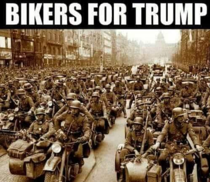 Détournement de motards de la Wehrmacht.