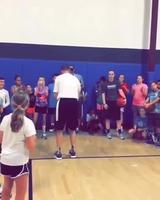 Le coach montre ses talents