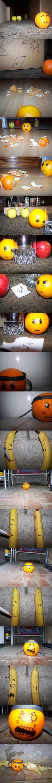 Une orange pas contente