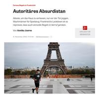 """""""Autoritäres Absurdistan"""", La France par les allemands, dans sa gestion du COVID..."""