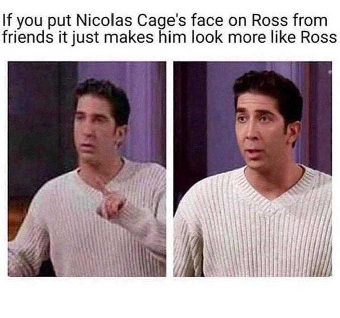 ...il ressemble encore plus à Ross!