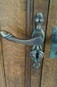 Une poignée de porte