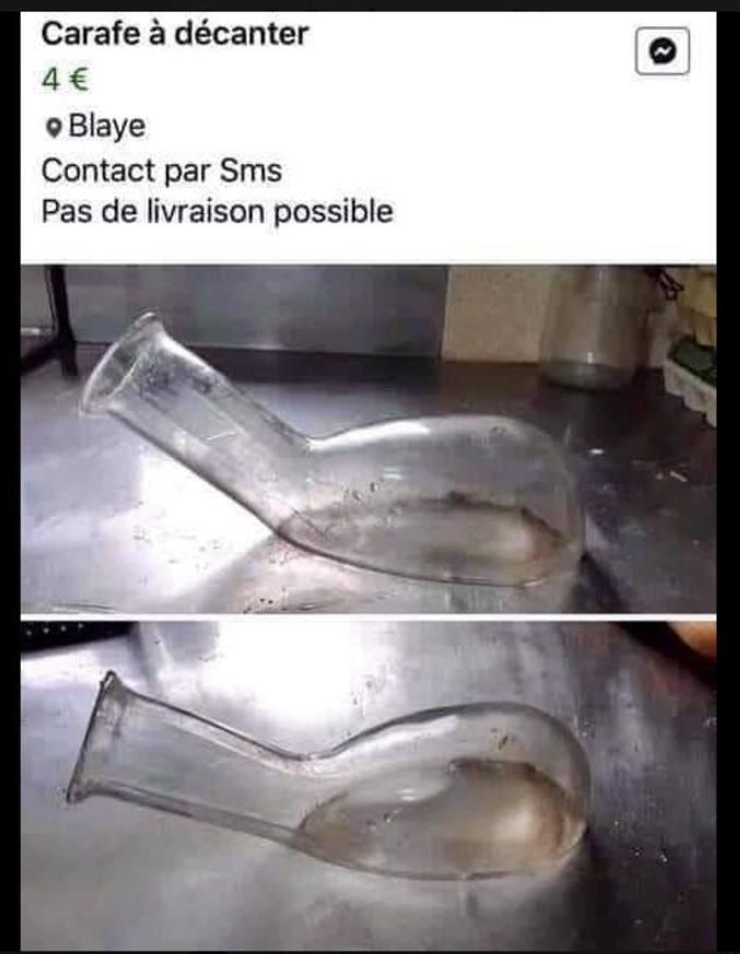 Décanter : Laisser les matières en suspension dans un liquide se déposer au fond du récipient pour ne pas avoir de goût de pisse.