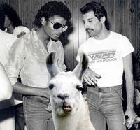 Freddie Mercury , Michael Jackson et Louie le lama