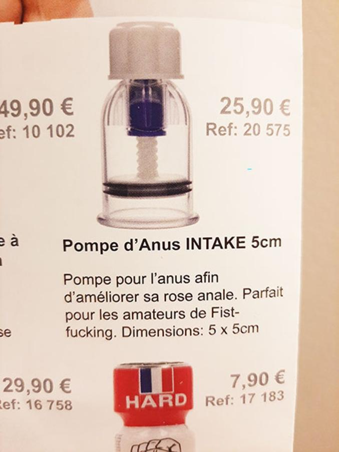 Pompe pour l'anus afin d'améliorer sa rose anal. Parfait pour les amateurs de Fist-fucking.