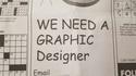 We need a graphic designer