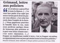Maurice Grimaud, préfet de Police à Paris en Mai 1968