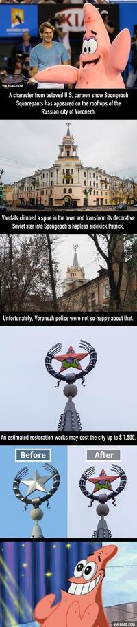 Patrick remplace l'étoile soviétique